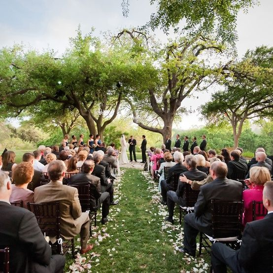 a springtime garden wedding in austin
