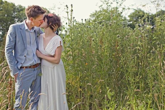 an organic farm wedding