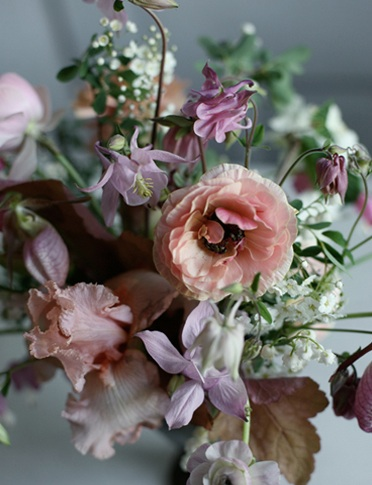Antiqued Pink Purple Brown Bouquet