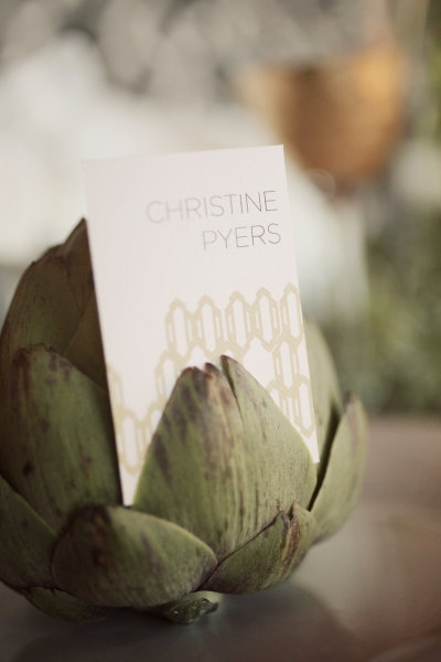 artichoke name card