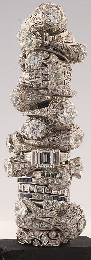 barkers antique diamond rings