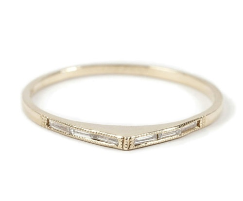 bateau band wedding ring