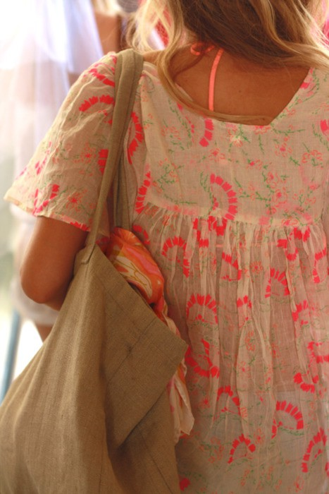beach cover up neon