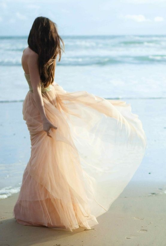 beach wedding dress cream