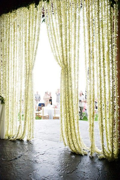 beautiful flower curtain bride