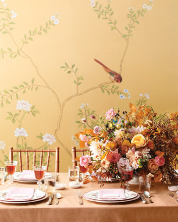 bird branch reception tables