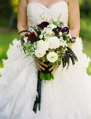 black feather bouquet