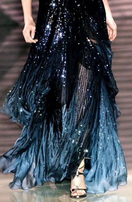 black navy beaded gown