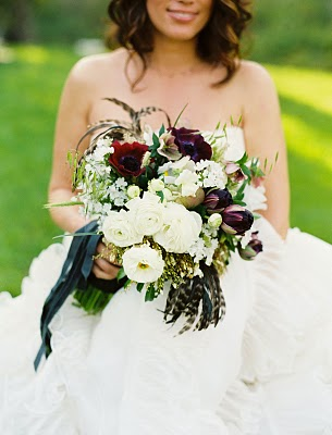 black oxblood bouquet