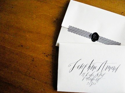 black white calligraphy wax seal