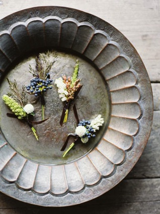 blackberry wheat boutonniere