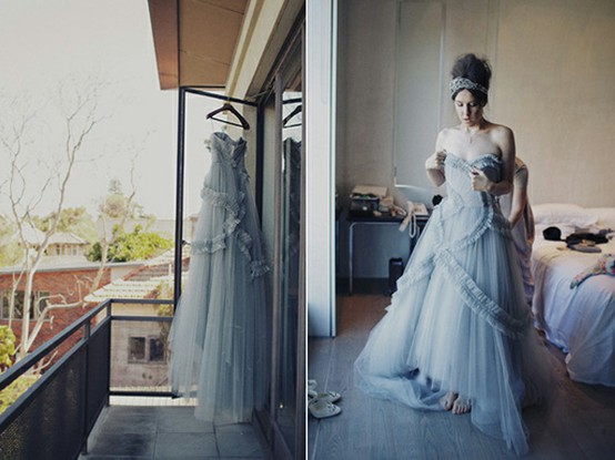 blue formal gown