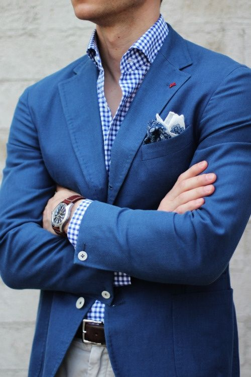 blue gingham shirt blazer