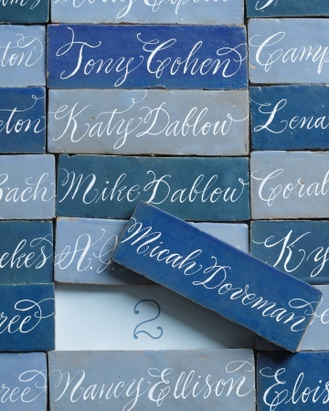 blue puzzle piece name cards