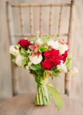 Bouquet Red Bright Green