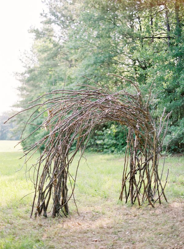 branch twig wedding arch