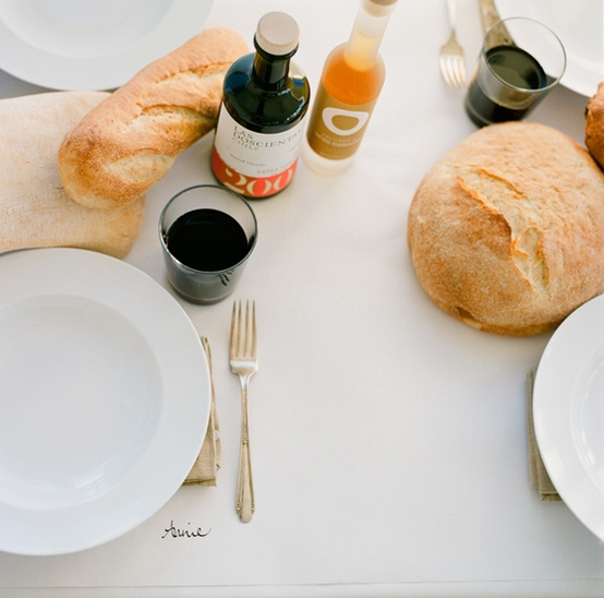 bread on table wedding