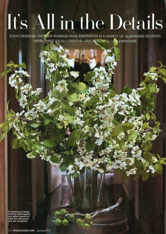bridal guise magazine white green flowers