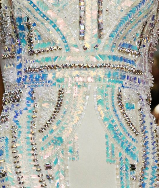 bright blue bead gown