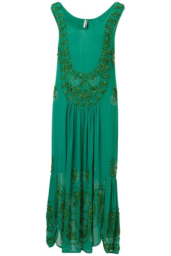 bright green formal dress