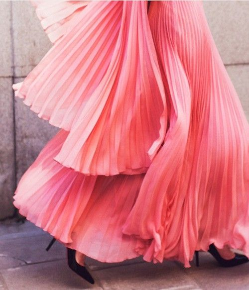 bright pink bridesmaid dress