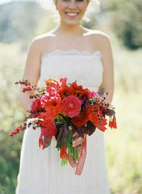 bright red bouquet