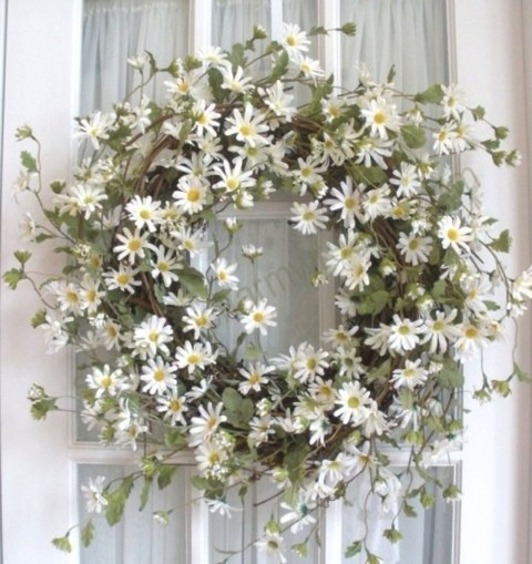 bright summer wreath flowers