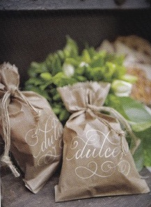 brown bag candy favors