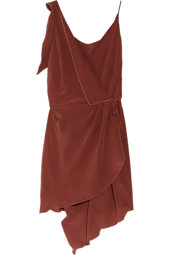 brown bridesmaid dress fall wedding