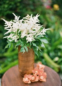 brown vase wedding centerpiece