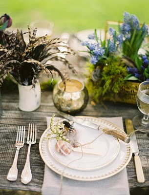 butterfly place setting wedding