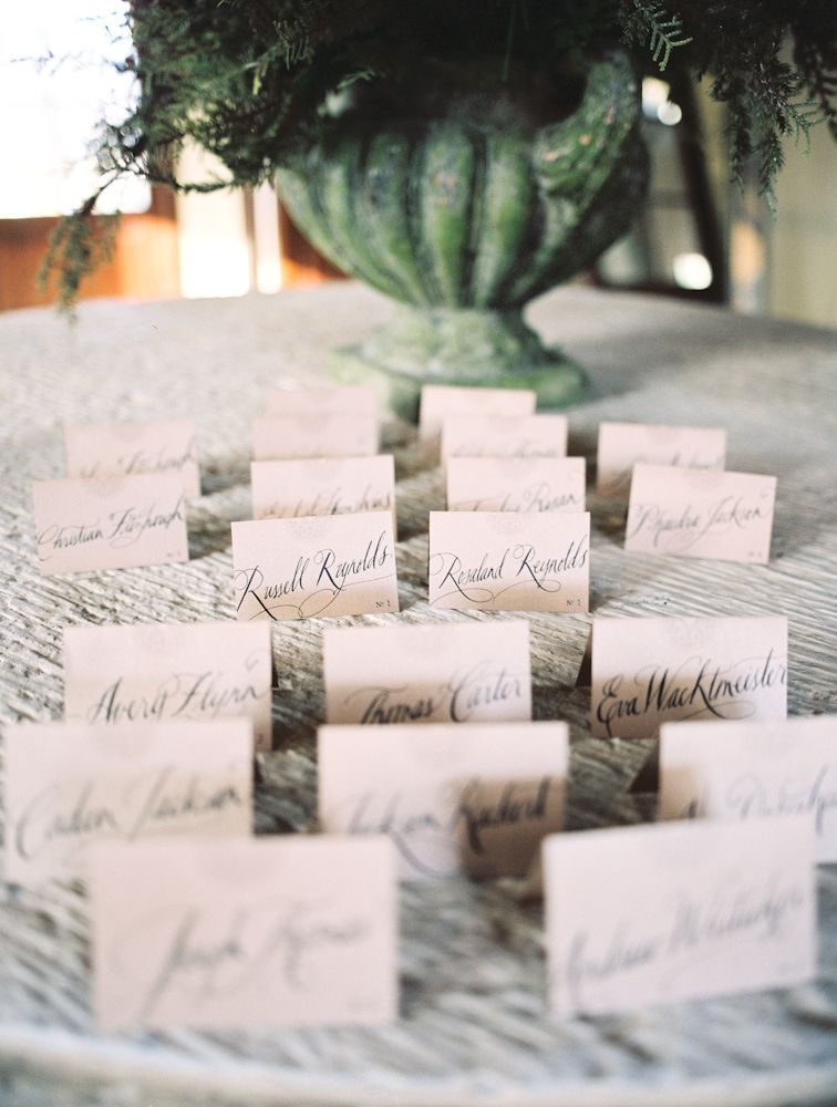 calligraphy name cards natural
