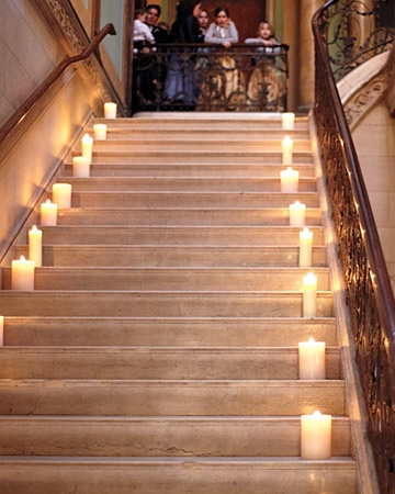 candle votive stairs