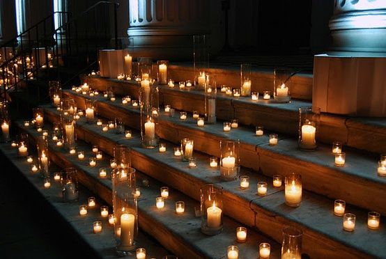 candlelight stairs romantic