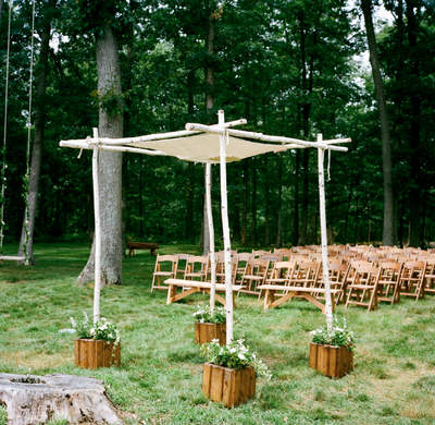 canopy wedding ceremony decorations