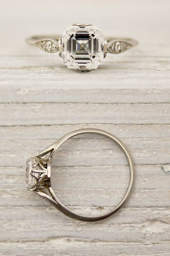 carat asscher cut diamond engagement ring by tiffany and co ce Wed