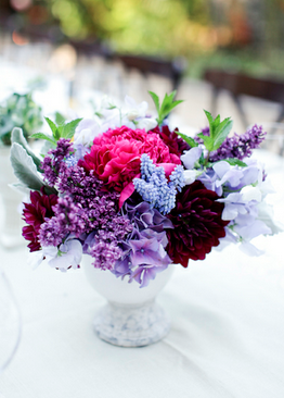 centerpieces for wedding purple