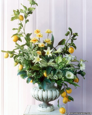 centerpieces yellow lemon