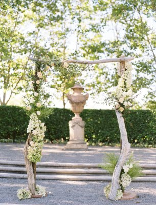 ceremony arch floral branches