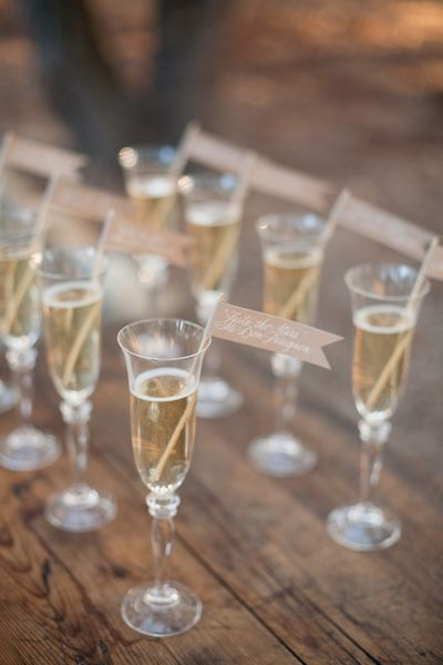champagne toast flags