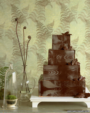 chocolate wood like wedding cake