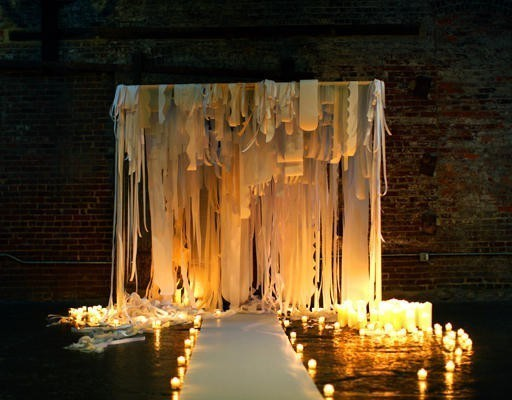 chuppah fabric decor