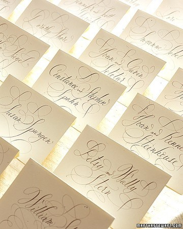 classic calligraphy name cards