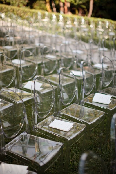 clear ceremony chairs