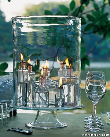 clear glass candle jars