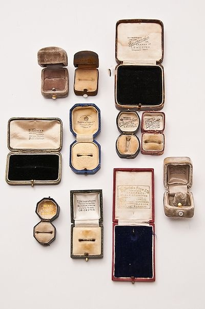 collection of ring boxes