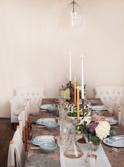 country cottage banquet table