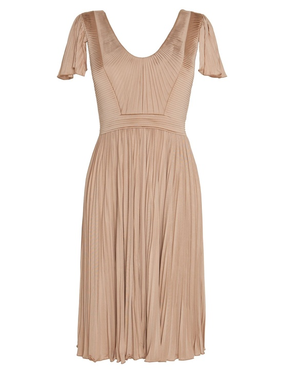 cream bridesmaid dress short sleeves