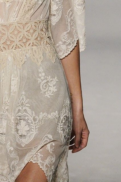 cream gray lace dress