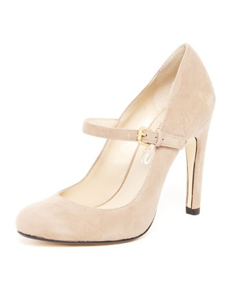 cream strap wedding shoes